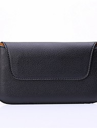 grano litchi universales bolso de la cintura negro para Sansung Galaxy s3 / s3 Mini / S4 / S4 Mini / S5 / s5 Mini / S6 / S6 borde / borde