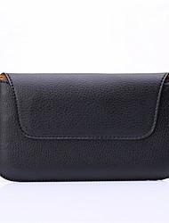 Universal Litchi Grain  Black Waist Bag for Sansung Galaxy S3/S3 mini/S4/S4 mini/S5/S5 mini/S6/S6 edge/S6 edge Plus/S7