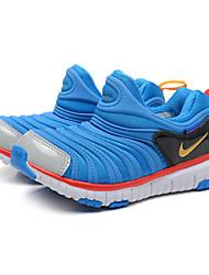 """zapatillas Nike niñas libres """"al aire libre / deportivo de cuero punta redonda napa / zapatillas de deporte de la manera de tul azul real"""
