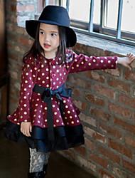 Vestido Chica de - Primavera / Otoño - Algodón - Negro / Rojo