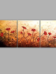 Floral Oil Painting Design 3 Piece Group Painting Handmade