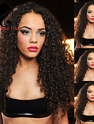 """8""""-24""""Brazilian Virgin Hair Kinky Curly Lace Front Wig For Black Women Gueless Lace Front Human Hair Wigs"""