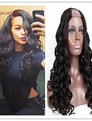 grade 8a péruvien ondes de corps de vierge u de cheveux humains perruque partie ondulées non transformés partie de perruques u u partie