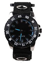 Genuine Black Nylon Belt Men's Watch Wrist Watch Cool Watch Unique Watch