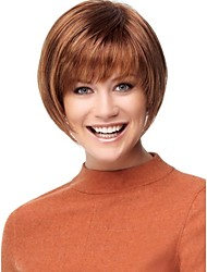 Middle Length Hair European Weave Light Brown Color Hair Wig