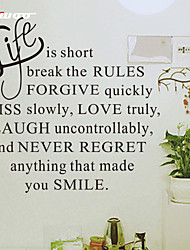 AWOO® New Life Is Short Hot Wall Sticker Group On Behalf Of English customization