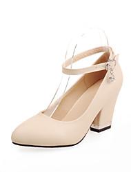 Women's Shoes PVC / Leatherette Chunky Heel Heels Heels Wedding / Office & Career / Dress / Casual Blue / Purple
