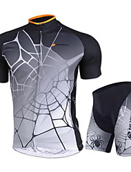 NUCKILY® Cycling Jersey with Shorts Unisex Short Sleeve BikeWaterproof / Breathable / Ultraviolet Resistant / Waterproof Zipper / Front