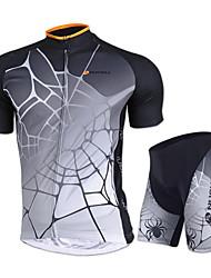 Nuckily Maillot et Cuissard de Cyclisme Unisexe Manches courtes VéloMaillot Cuissard / Short Shorts Rembourrés Ensemble de Vêtements