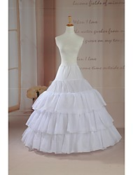 Slips Ball Gown Slip Floor-length 3 Tulle Netting White