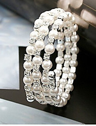 Fashion Jewelry Rhinestone Multilayer Pearl Bracelet