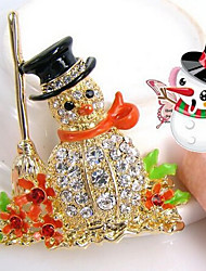 New Arrival Fashion Jewelry Rhinestone Popular Santa Claus Brooch
