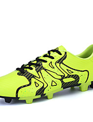 Men's Soccer Shoes Microfiber Leather Spike Shoes Yellow/Orange/Bule