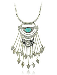 New Ethnic Jewelry Pendant Long Necklace with Turquoise