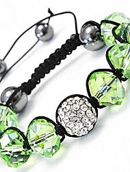 strand perlas pulseras pulseras de joyería para las mujeres nuevas pulseras de la bola de discoteca de la CZ micro pavimenta el grano 10mm xb-11