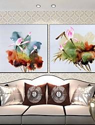 Ölgemälde Blume Stil Canvas-Material mit gestreckten Rahmen bereit, hängen Größe 70 * 70 * 2 Stück