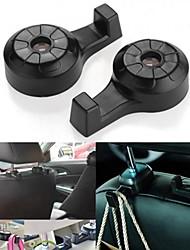 ZIQIAO® Universal 360°Rotating Car Headrest Hanger Hook Holder Luggage Clothing Organizer ABS(2PCS)