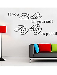 If You Believe Home Decor Creative English Words & Quote Wall Decal Decorative Removable Vinyl Wall Sticker