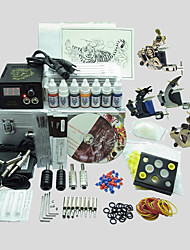 4 Guns BaseKey Tattoo Kit K409 Machine With Power Supply Grips Cups Needles(Ink not included)