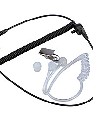 Baiston 3.5mm Air Duct Headset for Mobile Phone / Computer / MP3 / MP4 - Black + Transparent