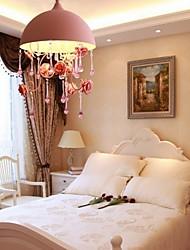 A Small Pink Rose Garden Restaurant Chandelier Lamp Iron Princess Room 3