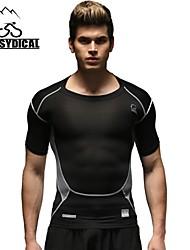 Vansydical Hombres Transpirable Fitness Tops Blanco / Verde / Negro / Naranja