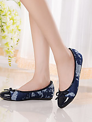Women's Shoes Fabric / Leatherette Flat Heel Comfort / Round Toe / Closed Toe Loafers Casual Blue