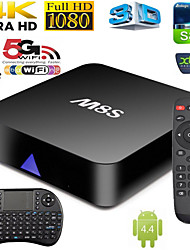 nuove m8s quad core tv box android4.4 intelligente xbmc pieno carico tastiera wireless +