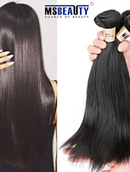 "3pcs/ Lot ""8-30""Peruvian Virgin Hair Straight  Hair Extensions 100% Unprocessed Remy Human Hair Weaves"