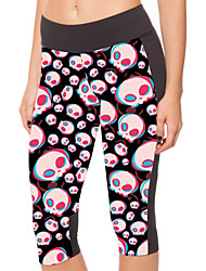 Woman Cultivate One's Morality Skulls Yoga Pants