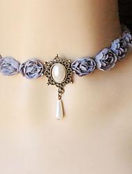 Женский Ожерелья-бархатки Готический ювелирные изделия Татуировка Choker В форме цветка Роуз Кружево Тату-дизайн Мода Бижутерия Назначение