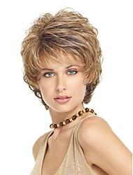 Short Length Hair European Weave Light Blonde Hair Wig