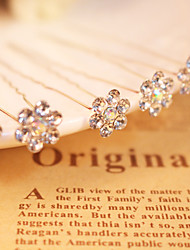 Women's Rhinestone / Alloy Headpiece - Wedding / Special Occasion Hair Pin 6 Pieces Sale