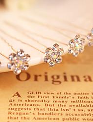 Mujer Diamantes Sintéticos Aleación Celada-Boda Ocasión especial Pasador de Pelo 6 Piezas