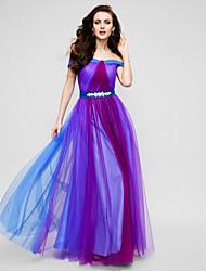 ts Couture® soirée formelle robe une ligne de hors-la-épaule-parole longueur tulle cristal détaillant / criss cross