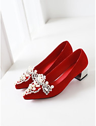 Women's Wedding Shoes Heels Heels Wedding / Party & Evening / Dress Black / Pink / Red / Gray