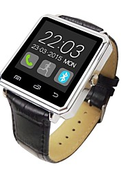"Bluetooth V4.0 Leather Band Metal Case 1.44"" TFT Smart Watch with Pedometers Sleep Tracker"