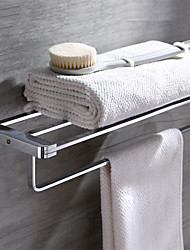Contemporary Brass Chrome Finish Wall Mounted Towel Bar
