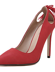Women's Shoes Fleece Stiletto Heel Pointed Toe Heels Wedding / Party & Evening / Dress Black / Red / White