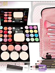 39 Correcteur + Fards à Paupières + Gloss + Pinceaux de Maquillage Sec / Humide Yeux / Visage / LèvresDense / Longue Durée / Correcteur /