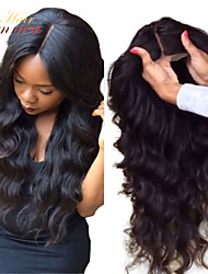 Top Quality 100% Virgin Brazilian Medium Density 10-32 Inch Glueless Full Lace Wigs Body Wave Human Hair wigs for Women