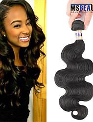 """1 pc / lot 12 """"-30"""" 6a peruanische reine Haarkörperwellen-Menschenhaareinschlagfäden 100% unverarbeitetes peruanisches remy Haar spinnt"""
