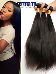 """3 unidades / lote 8 """"-30"""" 8a brasileiro virgem de trama cabelo reto 100% cabelo humano virgem não transformados tece"""