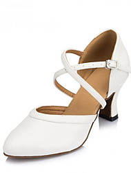 Women's Dance Shoes Leather / Patent Leather Leather / Patent Leather Modern Heels Cuban HeelPractice / Beginner /