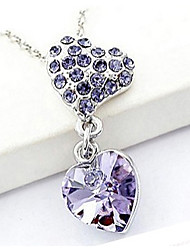 Casual Silver Plated / Gemstone & Crystal / Cubic Zirconia Pendant Necklace