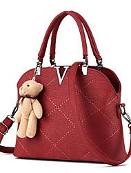 Women's Fashion Vintage PU Leather Messenger Shoulder Bag/Tote