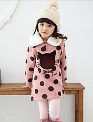 Girl's Green / Orange / Pink Hoodie & Sweatshirt Rayon Winter / Spring / Fall