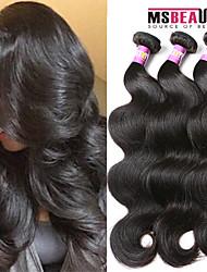 """3 unidades / lote 8 """"-30"""" cabelo humano indian onda do corpo cabelo virgem tece 7a"""
