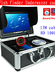 Fish Finder   Underwater Camera/Monitor System  15M 1000TVL HD CAM  Video Recorder DVR    LED Lights  4GB SD Car