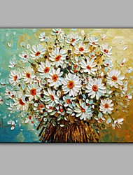 White Daisy Flower Oil Painting